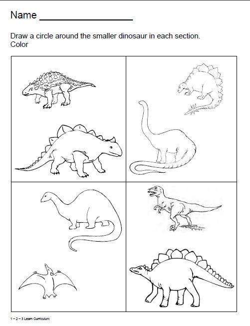 Dinosaur Worksheets for Kindergarten Dinosaur Worksheets