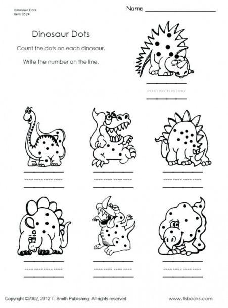 Dinosaur Worksheets Kindergarten Dinosaur Worksheets for Kindergarten