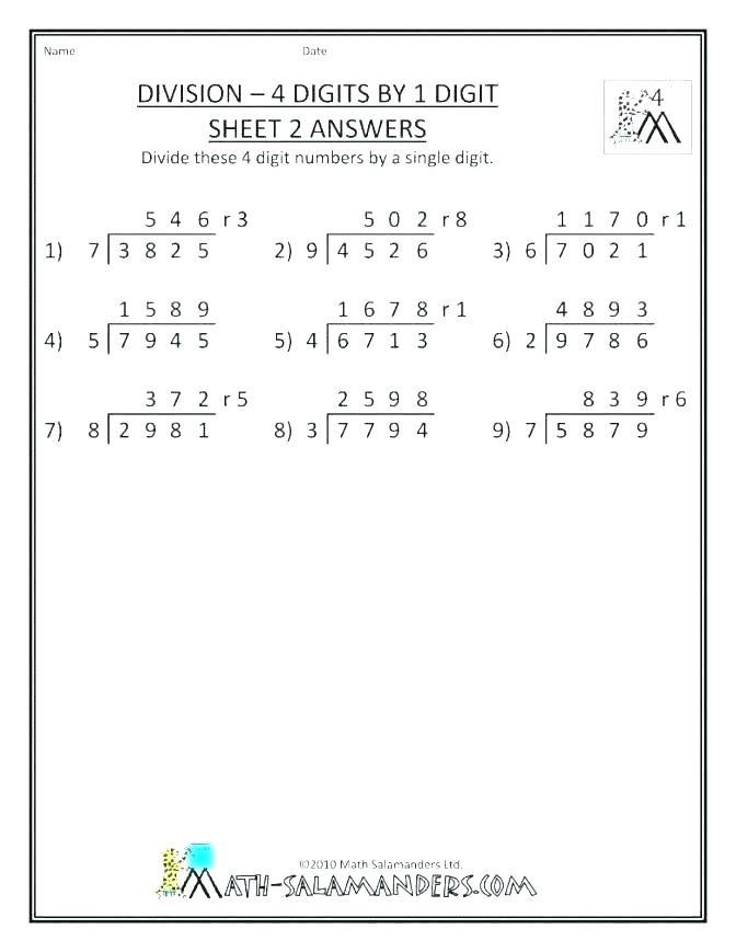 Division Worksheets for Grade 2 Long Division Worksheets Pdf Math Three Digit Division