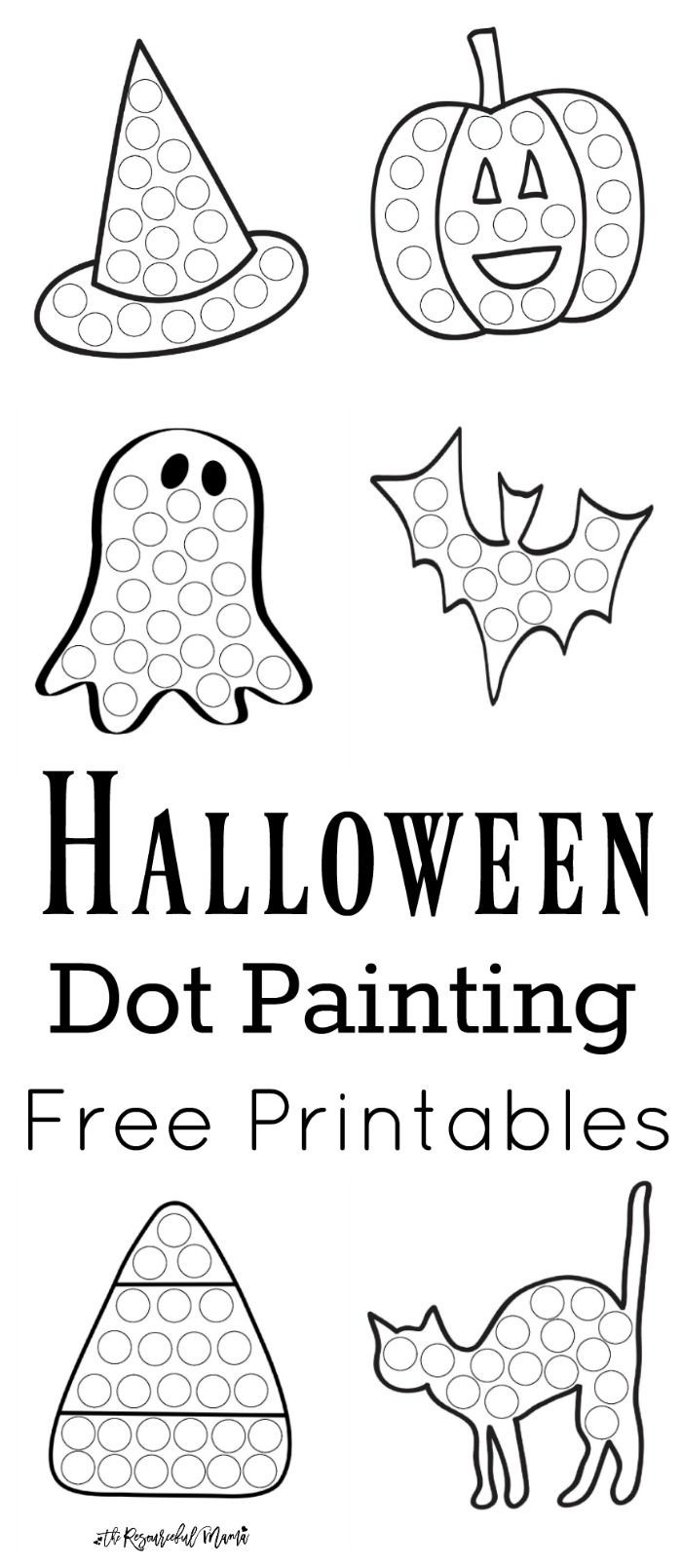 Dot to Dot Art Printables Halloween Dot Painting Free Printables