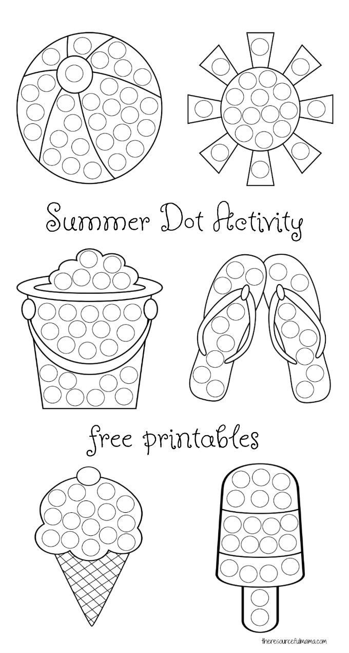 Dot to Dot Art Printables Summer Dot Activity Free Printables