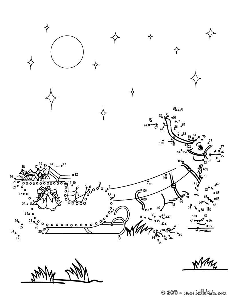 Dot to Dot Christmas Printables Christmas Dot to Dot 24 Free Dot to Dot Printable