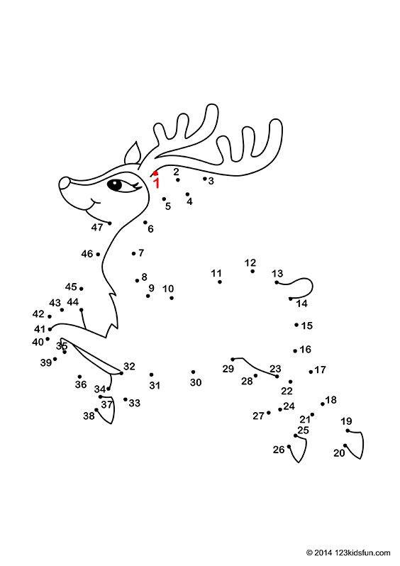 Dot to Dot Christmas Printables Christmas