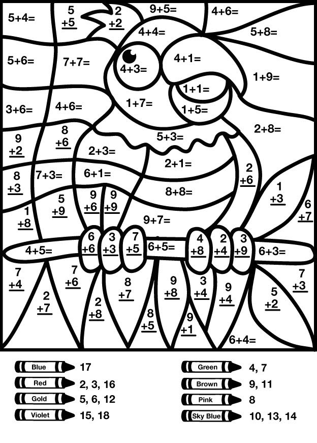 Double Digit Addition Coloring Worksheets Color by Number Addition Best Coloring Pages for Kids