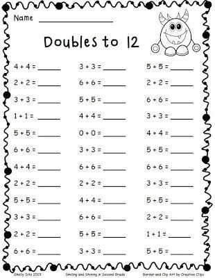 Doubles Rap Printable 61 Best Enrichment Images