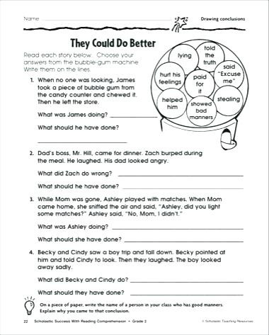 Drawing Conclusions Worksheets 4th Grade Drawing Conclusion Worksheets and Post Tests Making