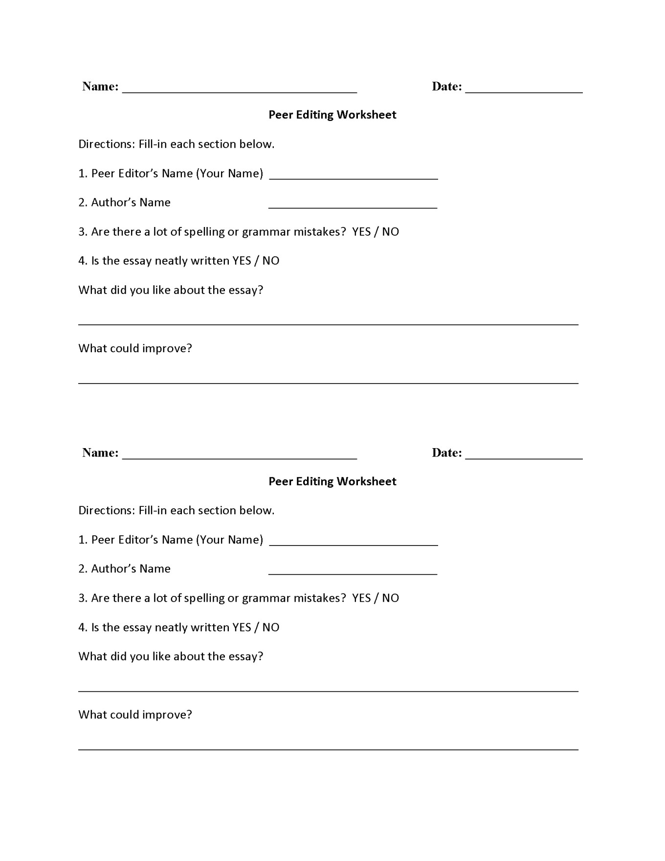 Editing Worksheet 2nd Grade Editing Worksheet Sentece