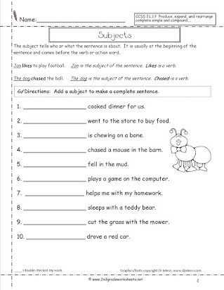 Editing Worksheet 2nd Grade Free Sentence Correction Worksheets for 2nd Grade