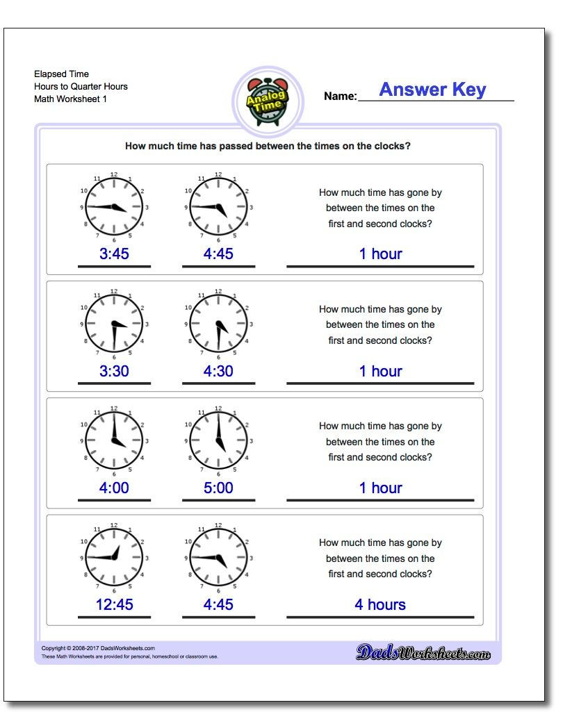 Elapsed Time 3rd Grade Worksheets Printable Pdf Analog Elapsed Time Worksheets