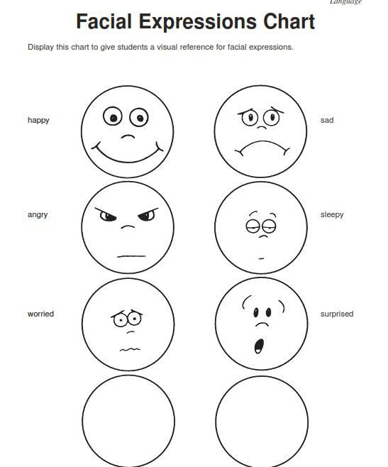 Emotions Worksheets for Preschoolers Emotions Worksheets for Kindergarten Worksheets for All