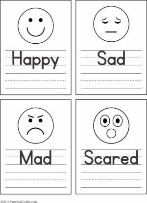 Emotions Worksheets for Preschoolers Feelings Faces Worksheet for Preschoolers