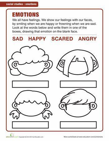 Emotions Worksheets for Preschoolers Image Result for Emotions Worksheets for Kindergarten Pdf