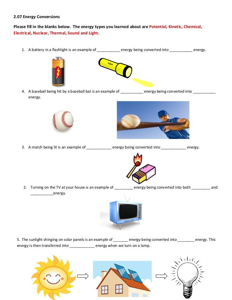 Energy 4th Grade Worksheets 2 07 Help Worksheet