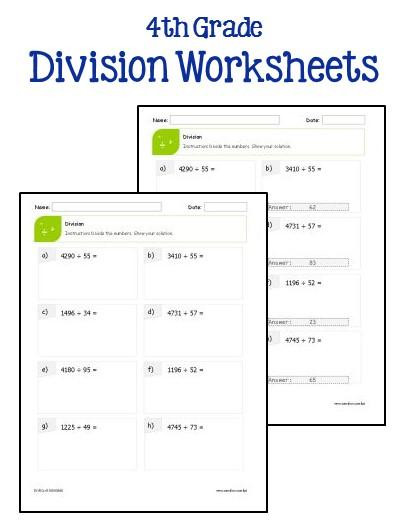 Estimating Products Worksheets 4th Grade 4th Grade Multiplication and Division Worksheets