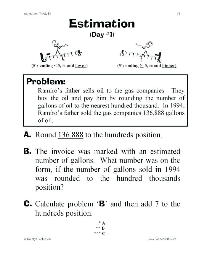 Estimation Worksheets for 3rd Grade Estimating Products Worksheets Estimating Products Grade