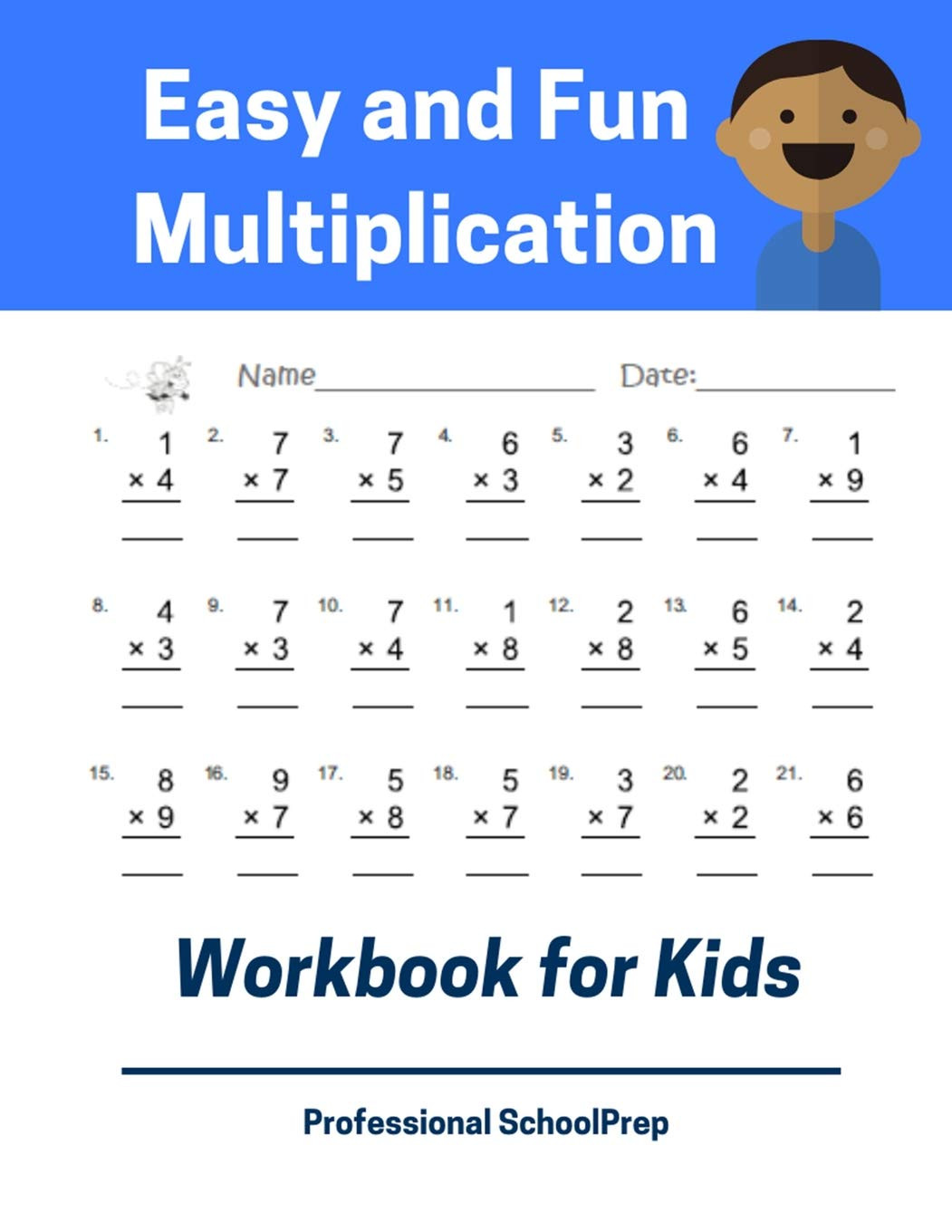Everyday Math 4th Grade Worksheets Easy and Fun Multiplication Workbook for Kids Full Set 5000