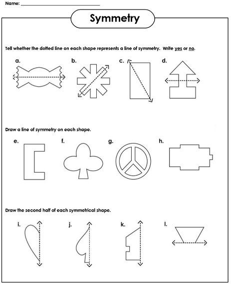 Everyday Math 4th Grade Worksheets Symmetry Worksheets