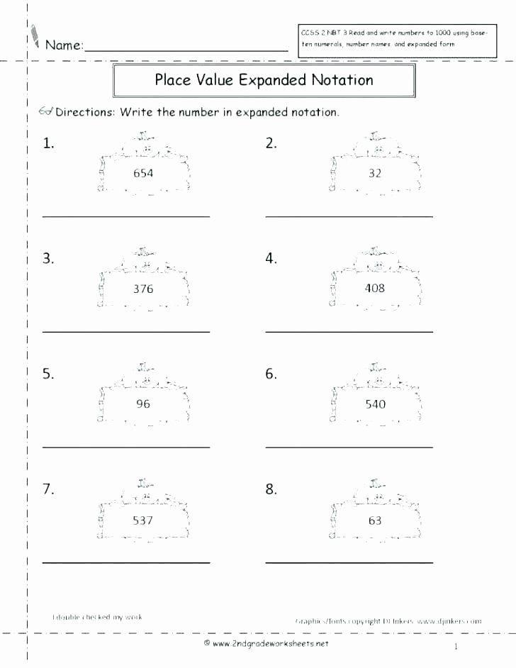 Expanded Notation Worksheets 3rd Grade Pin On Editable Grade Worksheet Templates