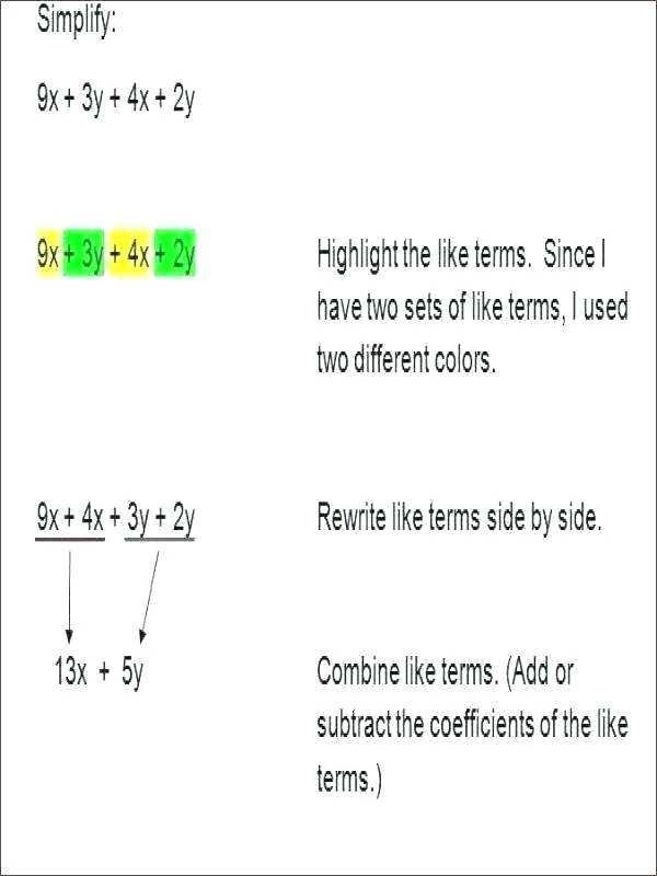 Exponents Worksheets 6th Grade 23 Bining Like Terms with Exponents Worksheet In 2020