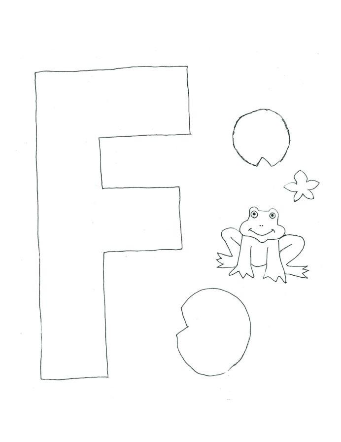 F Worksheets for Preschool Alphabet Letter Template Lettering Kindergarten Worksheets