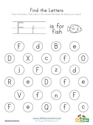 F Worksheets for Preschool Find the Letter F Worksheet