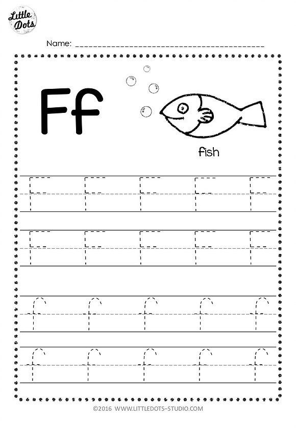 F Worksheets for Preschool Free Letter F Tracing Worksheets with Images