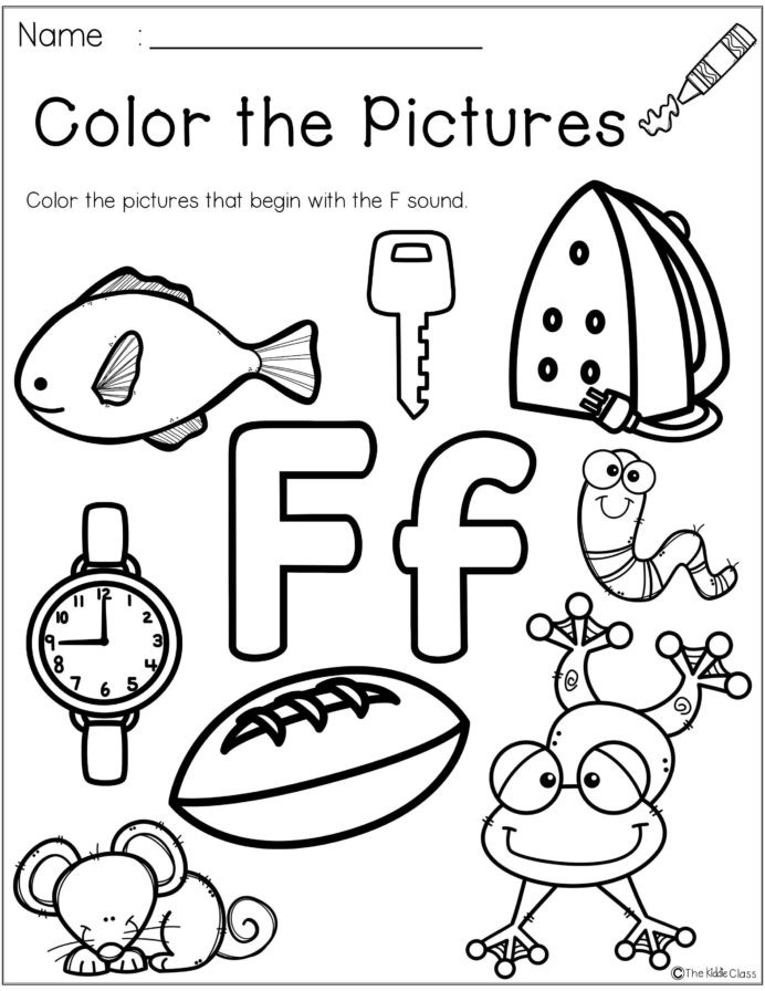 F Worksheets for Preschool Letter the Week Lettering Phonics Activities Worksheets