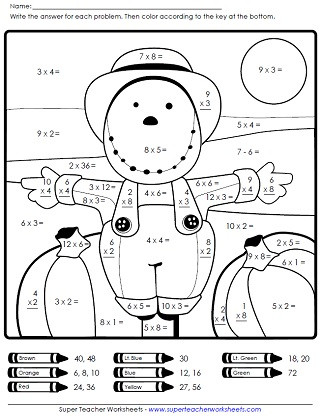 Fall Math Worksheets 2nd Grade Autumn Worksheets