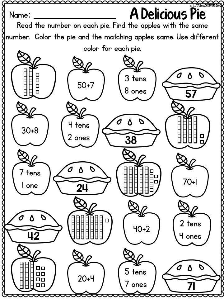 Fall Math Worksheets 2nd Grade Fall Activities for First Grade Math Worksheets and Literacy