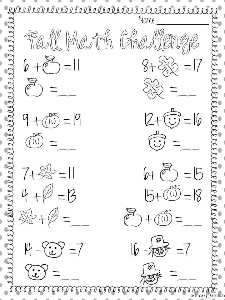 Fall Math Worksheets 2nd Grade Fall Math Worksheet Classroom Freebies