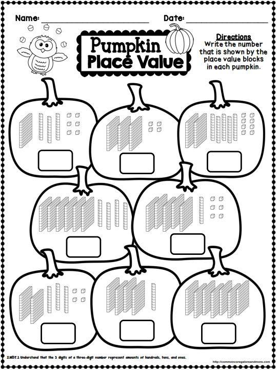 Fall Math Worksheets 2nd Grade Fall No Prep Math and Literacy Printables Second Grade