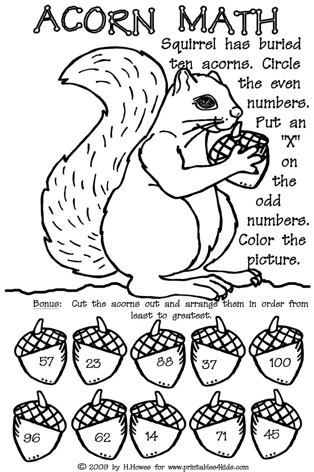 Fall Math Worksheets 2nd Grade Odd and even Double Digit Fall Math Worksheet Printables