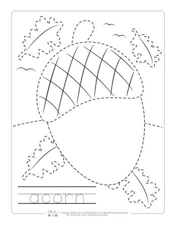 Fall Worksheets for Kindergarten Fall Tracing Worksheets Itsy Bitsy Fun
