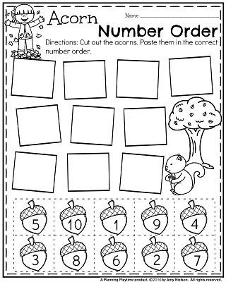 Fall Worksheets for Kindergarten November Preschool Worksheets