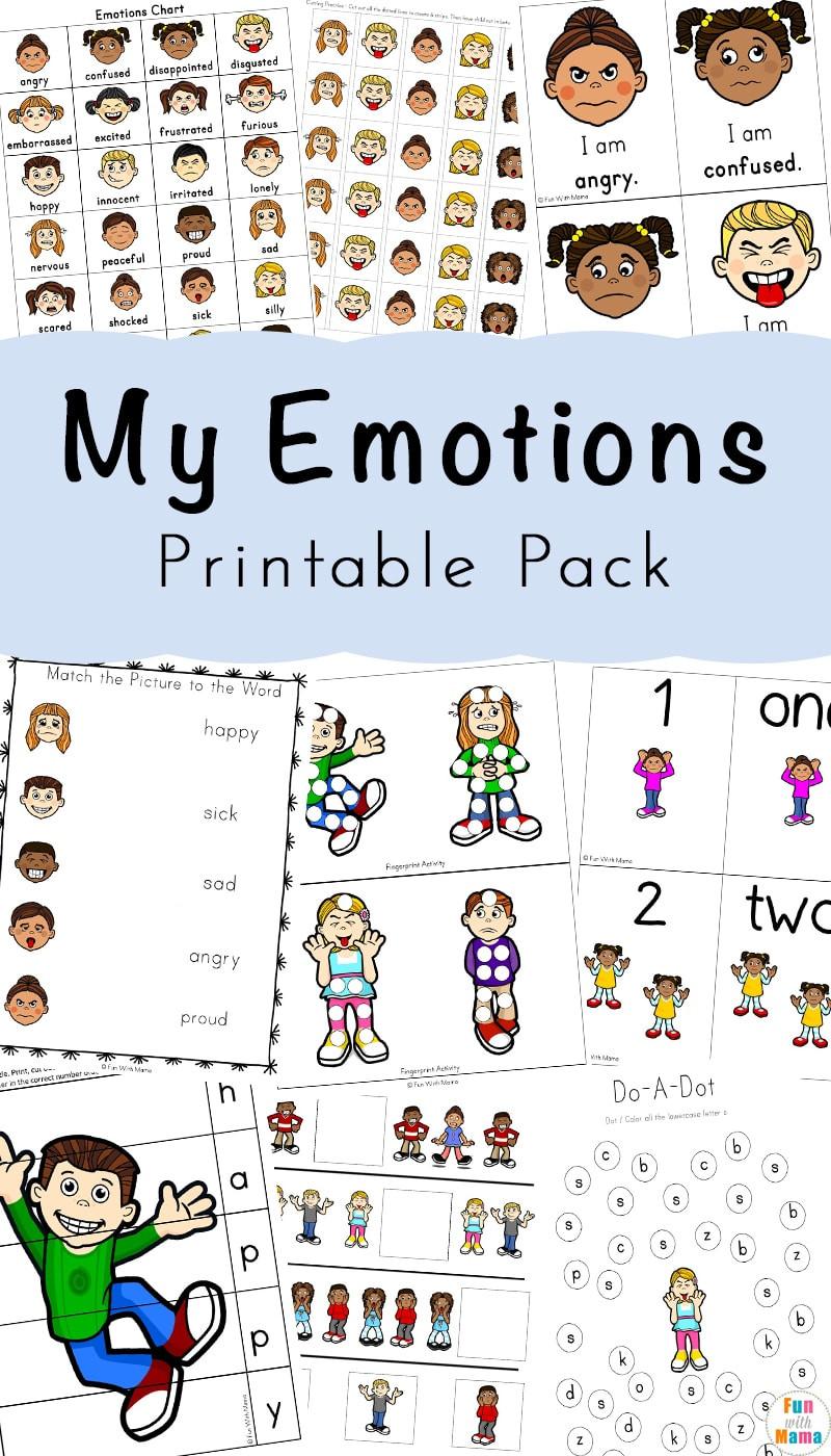 Feelings and Emotions Worksheets Printable Feelings Activities Emotions Worksheets for Kids Fun