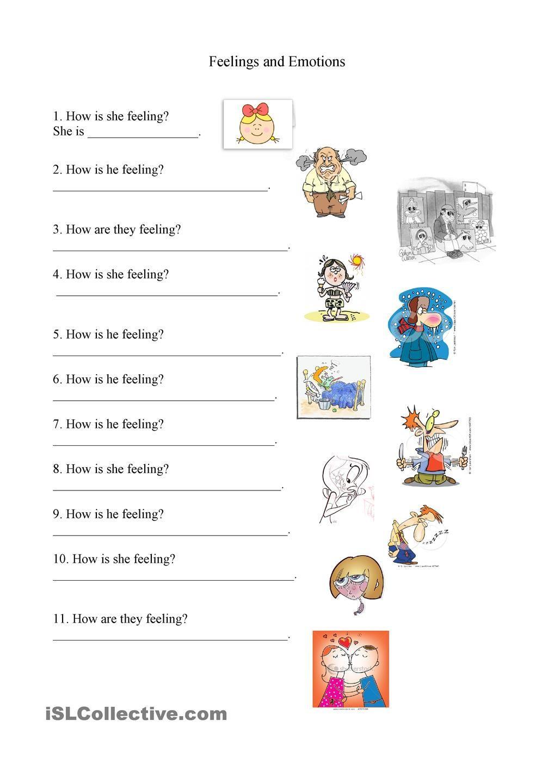 Feelings and Emotions Worksheets Printable Feelings and Emotions Worksheet