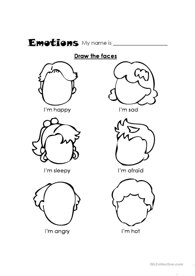 Feelings Worksheets for Kindergarten Feelings English Esl Worksheets for Distance Learning and