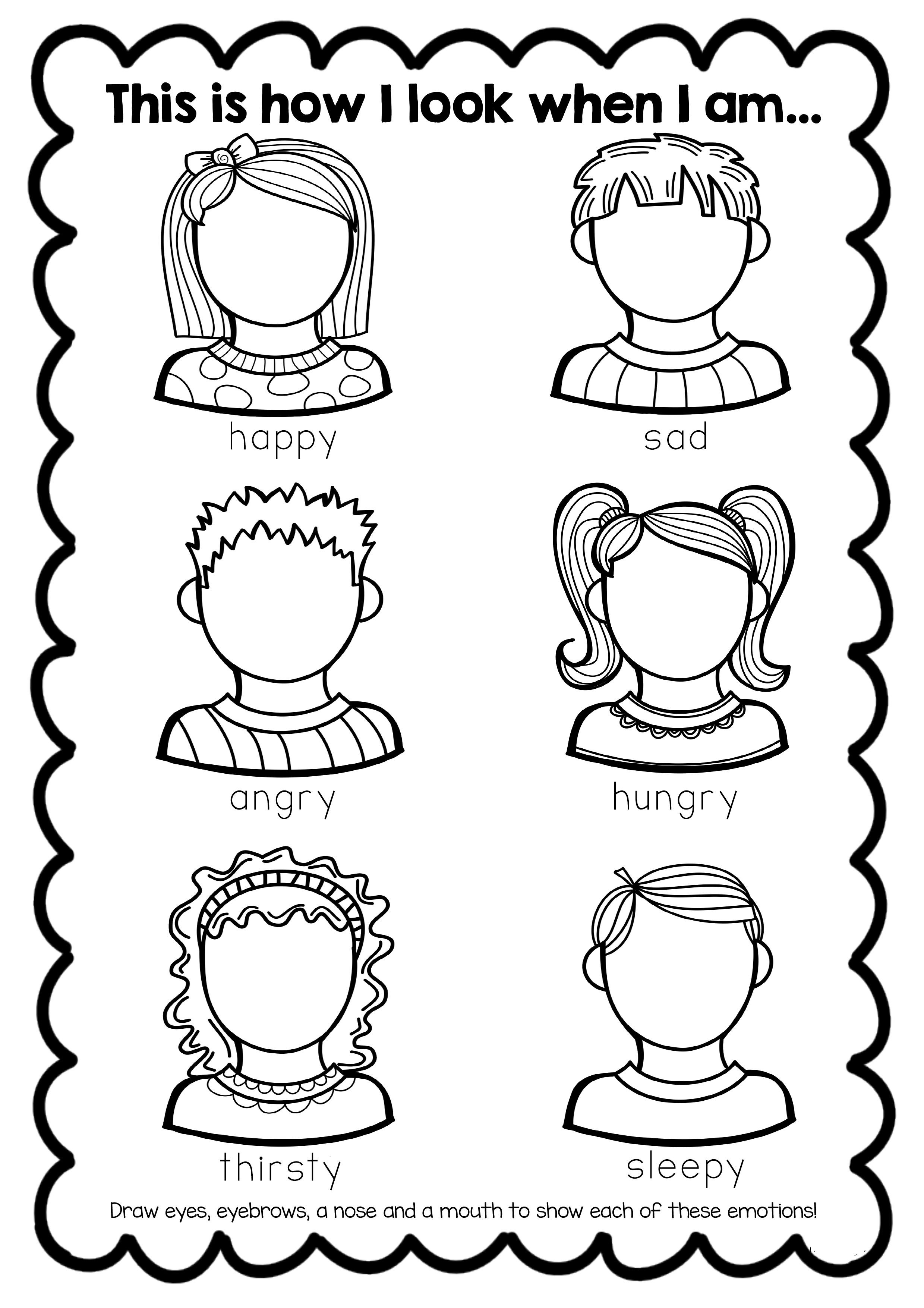 Feelings Worksheets for Kindergarten Free Feelings Worksheet