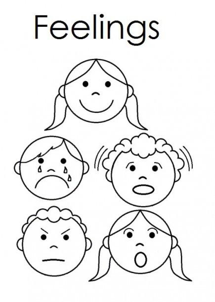 Feelings Worksheets for Preschoolers Emotion Faces Worksheet