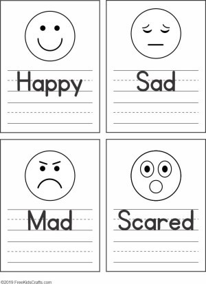 Feelings Worksheets for Preschoolers Feelings Faces Worksheet for Preschoolers