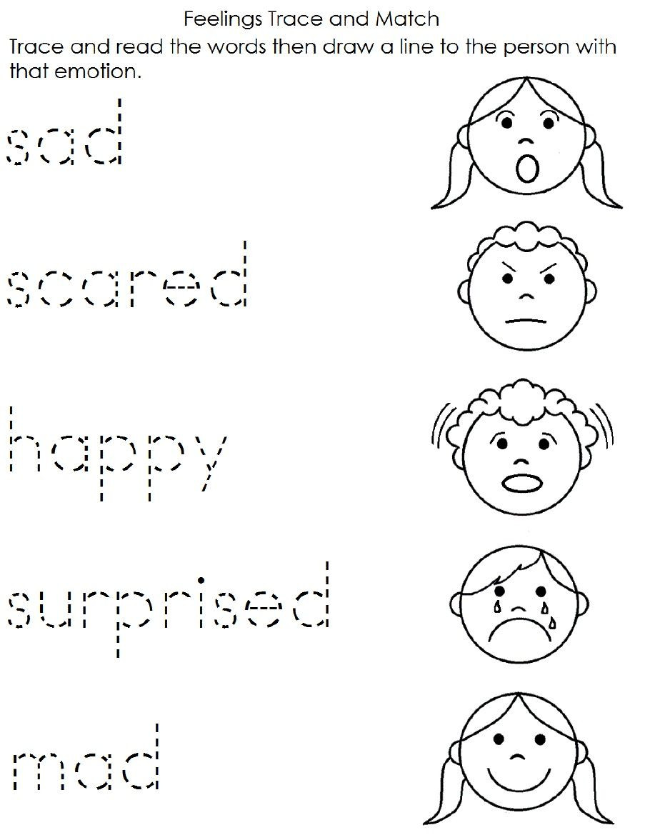 Feelings Worksheets for Preschoolers Feelings Worksheet
