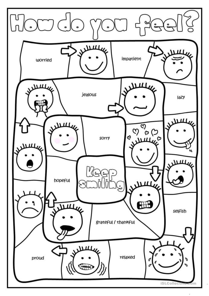 Feelings Worksheets for Preschoolers Free Printables and Activities Feelings Emotions social