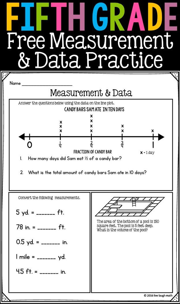 Fifth Grade Measurement Worksheets Fifth Grade Math Review 7 Free Worksheets