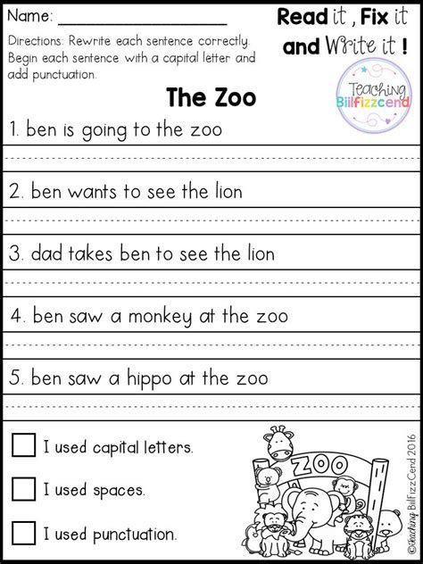 First Grade Sentence Worksheets Best 25 Simple Sentences Worksheet