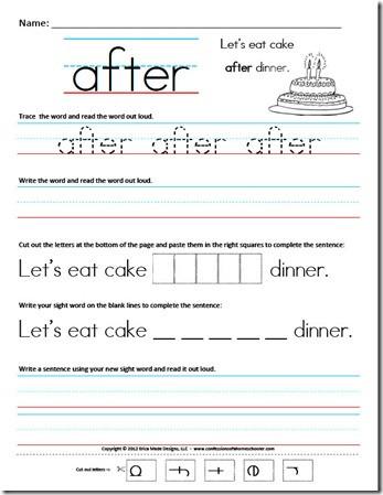 First Grade Sentence Worksheets First Grade Sight Word Sentences Confessions Of A Homeschooler