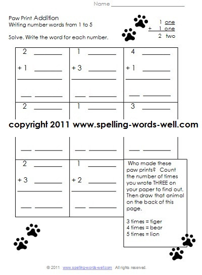 First Grade Spelling Words Worksheets Printable First Grade Worksheets