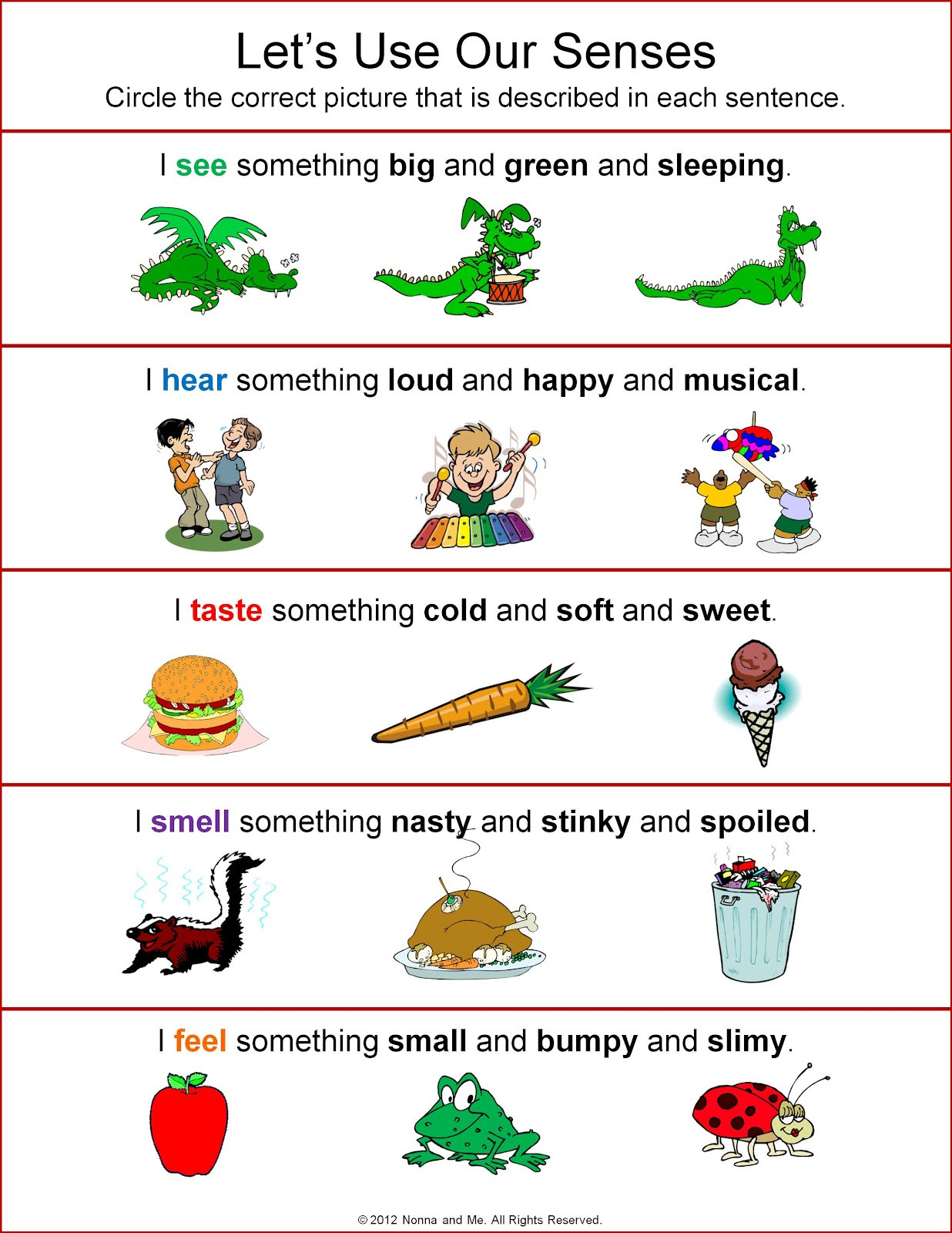 Five Senses Worksheets for Kindergarten Five Sense Worksheet New 75 Five Senses Activities and