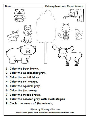 Follow Directions Worksheet Kindergarten Following Directions Drawing Activities Free