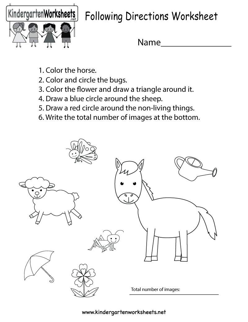 """Follow Directions Worksheet Kindergarten Kindergarten Wsheets On Twitter """"this Free Kindergarten"""