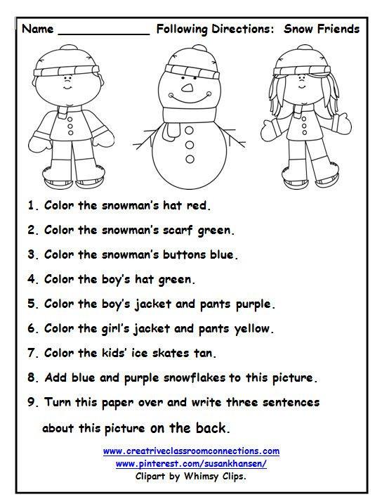 Follow Directions Worksheet Kindergarten This Free Worksheet Allows Students to Follow Directions